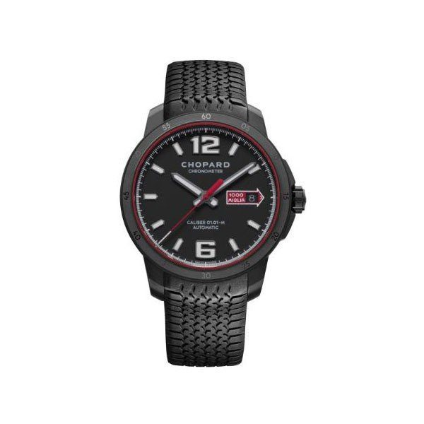 CHOPARD MILLE MIGLIA GTS 43MM BLACK DLC STAINLESS STEEL MEN'S WATCH