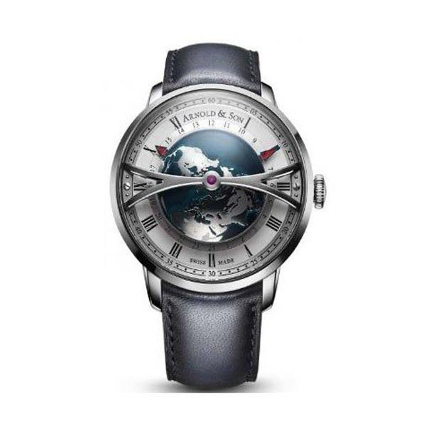 ARNOLD & SON GLOBETROTTER 45MM STAINLESS STEEL MEN'S WATCH