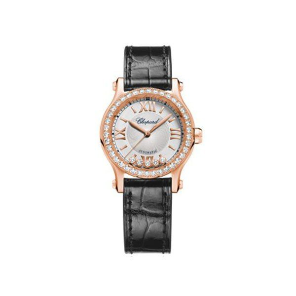 CHOPARD HAPPY DIAMONDS 30MM 18KT ROSE GOLD LADIES WATCH