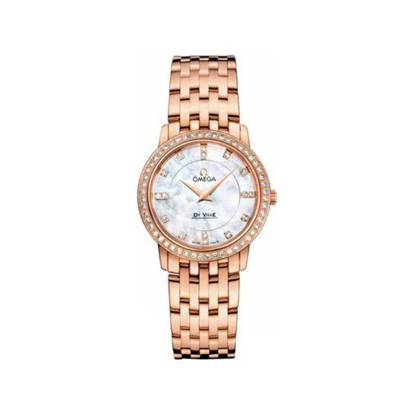 OMEGA DE VILLE 27MM 18KT ROSE GOLD LADIES WATCH