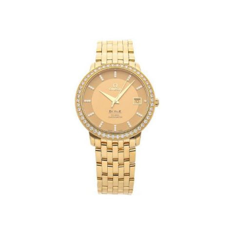 OMEGA DE VILLE PRESTIGE 36.5MM 18KT YELLOW GOLD LADIES WATCH