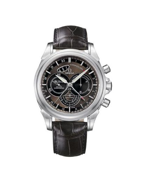OMEGA DEVILLE CO-AXIAL CHRONOSCOPE GMT 44MM STAINLESS STEEL MEN'S WATCH