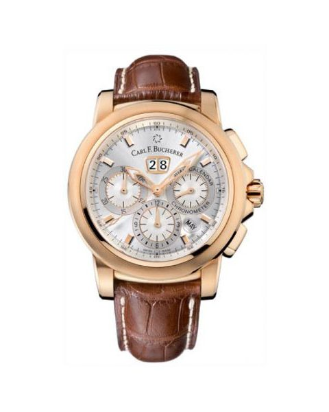 CARL F BUCHERER CHRONODATE 42MM 18KT ROSE GOLD MEN'S WATCH