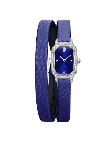 Harry Winston Pre-owned Emerald Collection 17.75mm X 24mm 18kt White Gold Ladies Watch