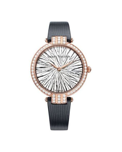 Harry Winston Pre-owned Premier Feathers 36mm 18kt Rose Gold Ladies Watch