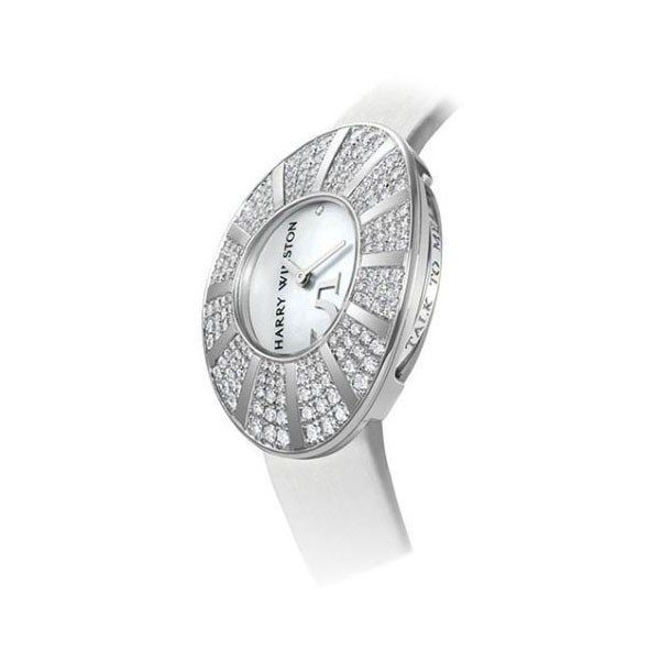 HARRY WINSTON TALK TO ME 40MM 18KT WHITE GOLD LADIES WATCH