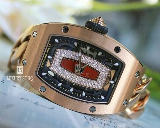 RICHARD MILLE 45.66MM X 31.4MM 18KT ROSE GOLD LADIES WATCH