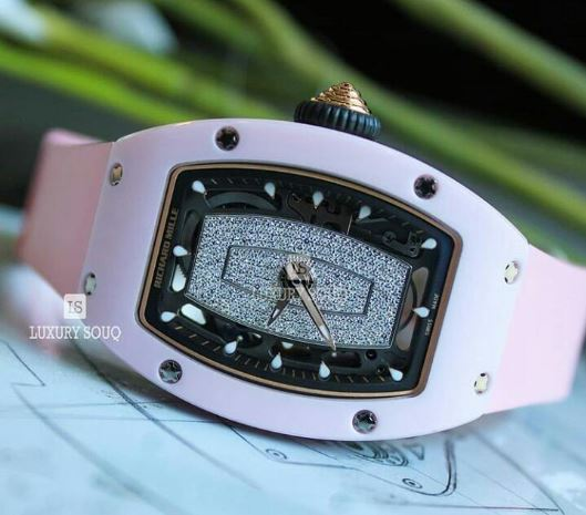 RICHARD MILLE AUTOMATIC PINK CERAMIC 45MM X 31MM LADIES WATCH