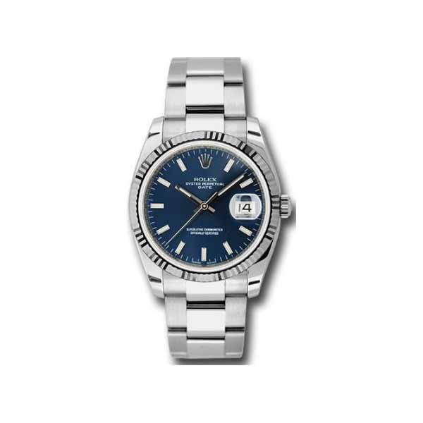 ROLEX OYSTER PERPETUAL DATE 34MM STAINLESS STEEL LADIES WATCH