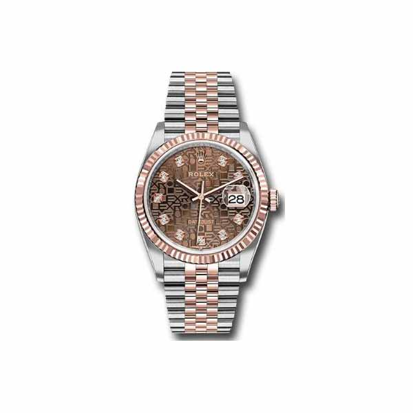 ROLEX DATEJUST 18KT ROSE GOLD & STAINLESS STEEL 36MM MEN'S WATCH