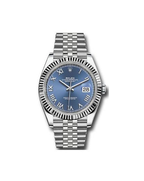 ROLEX Pre-Owned Perpetual DateJust 41mm White Gold Men's Watch