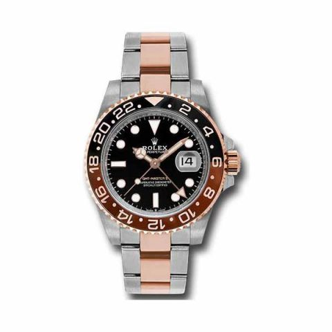PROFESSIONAL ROLEX GMT MASTER II 40MM 18KT ROSE GOLD MEN'S WATCH