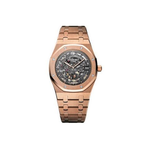 AUDEMARS PIGUET ROYAL OAK OPENWORKED EXTRA-THIN 39MM 18KT ROSE GOLD MEN'S WATCH