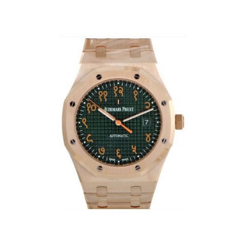 AUDEMARS PIGUET ROYAL OAK INDIAN SANSKRIT LIMITED & SPECIAL EDITION 41MM 18KT ROSE GOLD MEN'S WATCH