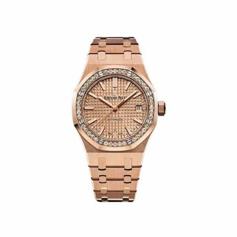 AUDEMARS PIGUET ROYAL OAK 18KT ROSE GOLD 37MM LADIES WATCH