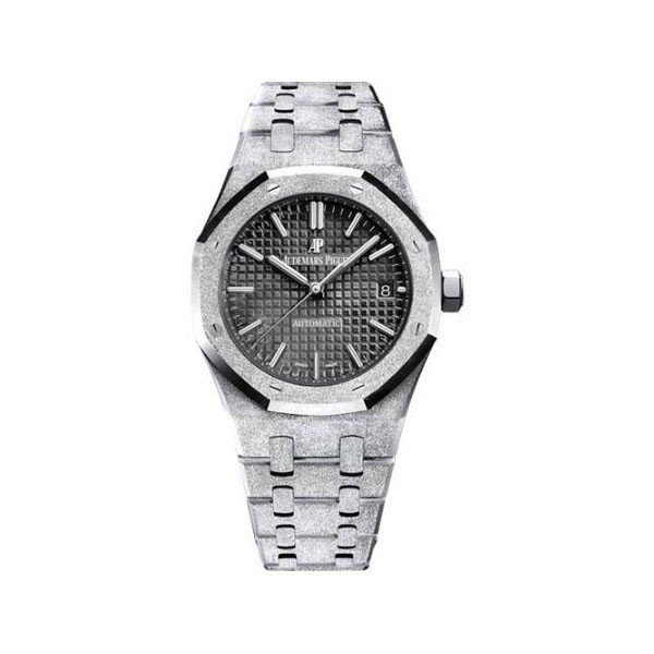 AUDEMARS PIGUET ROYAL OAK FROSTED GOLD 37MM LADIES WATCH