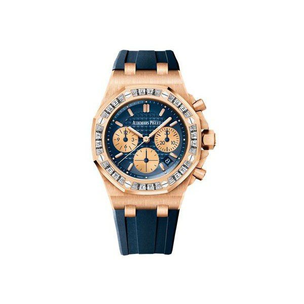 AUDEMARS PIGUET ROYAL OAK OFFSHORE CHRONOGRAPH LIMITED EDITION PINK GOLD LADIES WATCH