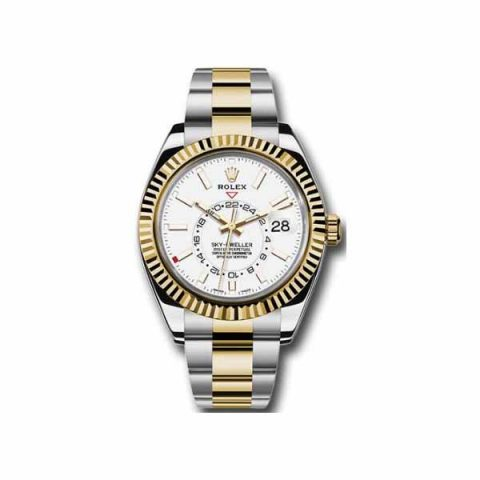 PROFESSIONAL ROLEX SKY DWELLER 42MM 18KT YELLOW  GOLD MEN'S WATCH