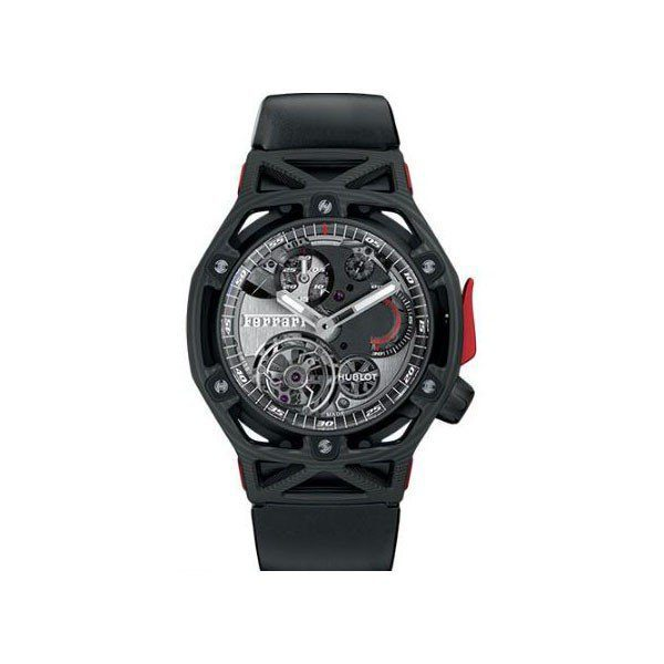 HUBLOT TECHFRAME FERRARI TOURBILLON CHRONOGRAPH CARBON LIMITED EDITION OF 70 MEN'S WATCH