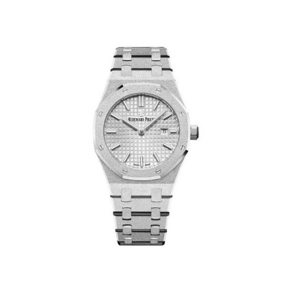 AUDEMARS PIGUET ROYAL OAK 33MM 18KT WHITE GOLD FROSTED LADIES WATCH