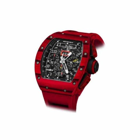 RICHARD MILLE FLYBACK CHRONOGRAPH LIMITED EDITION OF 50 PCS 44MM TITANIUM RED TPT MEN'S WATCH
