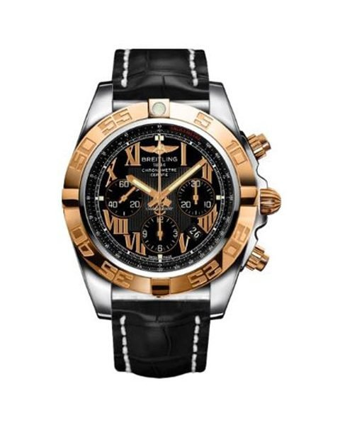 BREITLING CHRONOMAT 44MM 18KT ROSE GOLD WITH STAINLESS STEEL MEN'S WATCH REF. CB011012-B957-743P