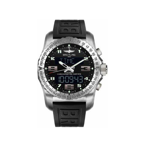BREITLING COCKPIT B50 VOLCANO BLACK 46MM TITANIUM MEN'S WATCH