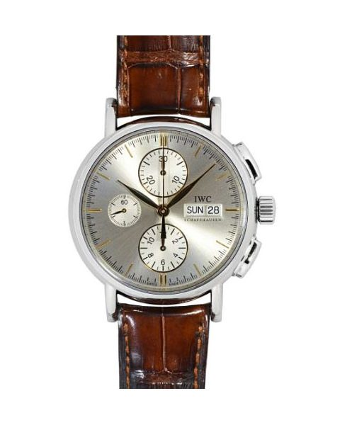 IWC PORTOFINO CHRONOGRAPH SILVER LETTER EDITION 41MM STAINLESS STEEL MEN'S WATCH