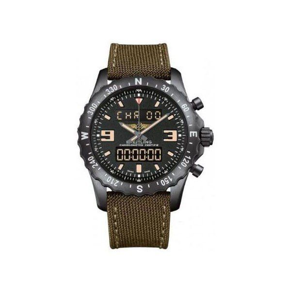 BREITLING CHRONOSPACE MILITARY 48MM BREITLING BLACKSTEEL STEEL SPECIAL EDITION MEN'S WATCH