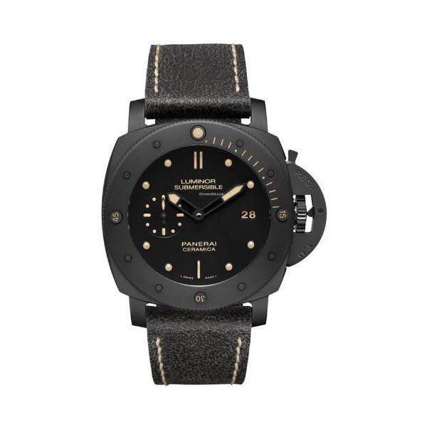 PANERAI LUMINOR SUBMERSIBLE 1950 3 DAYS 47MM BLACK CERAMIC MEN'S WATCH