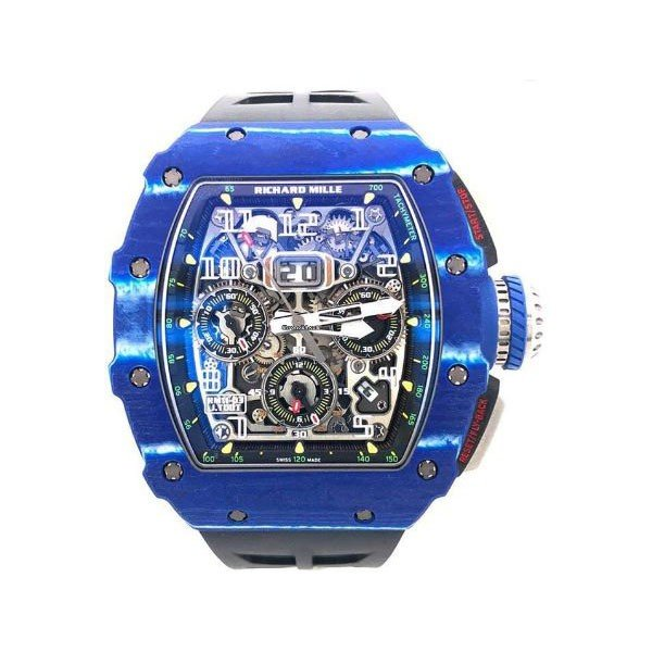 RICHARD MILLE JEAN TODT LIMITED EDITION OF 150 PIECES 49.9MM BLUE AND BLACK NTPT CARBON MEN'S WATCH