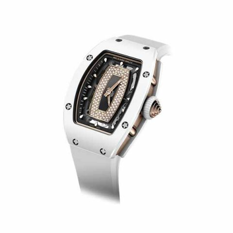 RICHARD MILLE AUTOMATIC WHITE CERAMIC 45MM X 31MM LADIES WATCH
