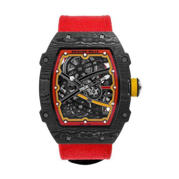 RICHARD MILLE ALEXANDER ZVEREV EDITION 38.70MM X 47.52MM CARBON QUARTZ TPT AND TITANIUM MEN'S WATCH