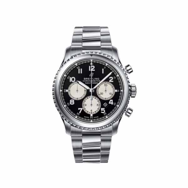 BREITLING NAVITIMER 8 CHRONOGRAPH CHRONOMETER 43MM STAINLESS STEEL MEN'S WATCH