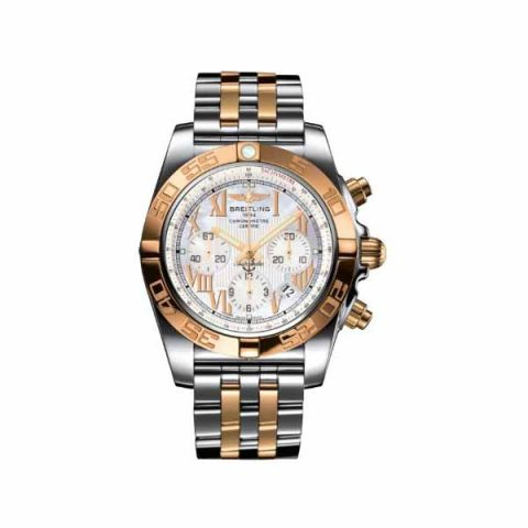 BREITLING CHRONOMAT 44MM STAINLESS STEEL/18KT ROSE GOLD MEN'S WATCH