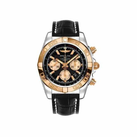 BREITLING CHRONOMAT B01 CHRONOGRAPH 44MM STAINLESS STEEL/18KT ROSE GOLD MEN'S WATCH