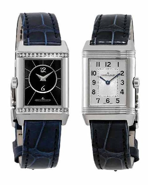 JAEGER LECOULTRE REVERSO CLASSIC SMALL DUETTO 34.2MM 21MM STAINLESS STEEL LADIES WATCH