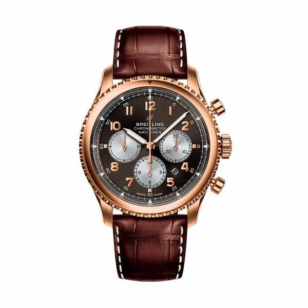 BREITLING NAVITIMER 8 B01 CHRONOGRAPH 43MM 18KT ROSE GOLD MEN'S WATCH