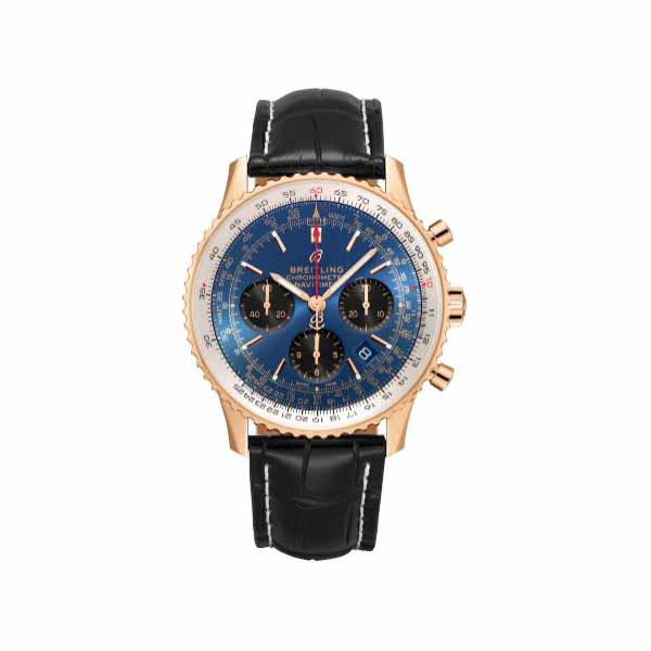 BREITLING NAVITIMER 1 B01 CHRONOGRAPH 43MM 18KT ROSE GOLD MEN'S WATCH