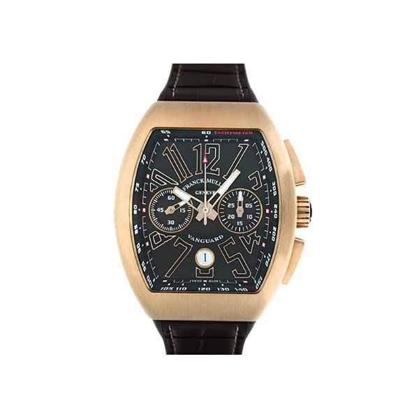 FRANCK MULLER VANGUARD CHRONOGRAPH DATE 45MM 18KT ROSE GOLD MEN'S WATCH