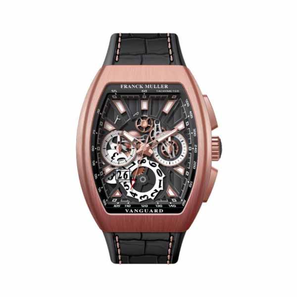FRANCK MULLER VANGUARD GRANDE DATE 44MM 18KT ROSE GOLD MEN'S WATCH
