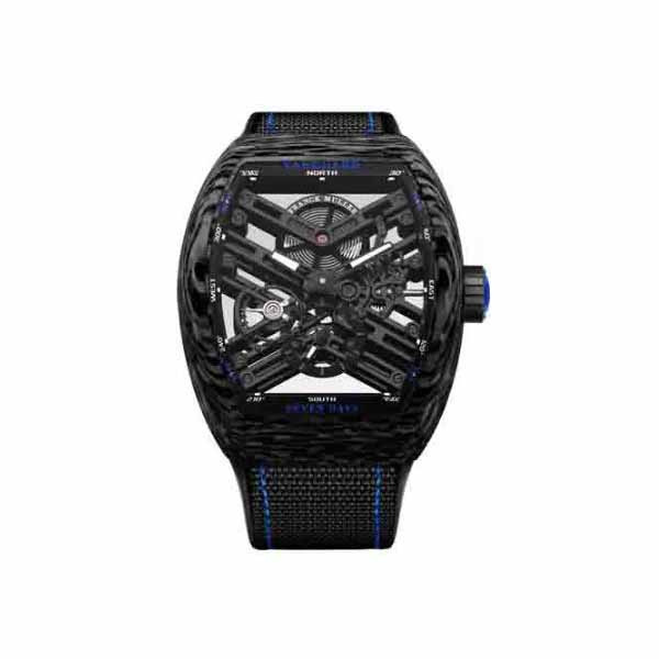 FRANCK MULLER VANGUARD 53.7MM CARBON FIBER MEN'S WATCH
