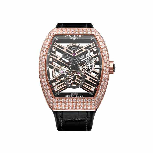 FRANCK MULLER VANGUARD 44MM 18KT ROSE GOLD WITH DIAMONDS MEN'S WATCH