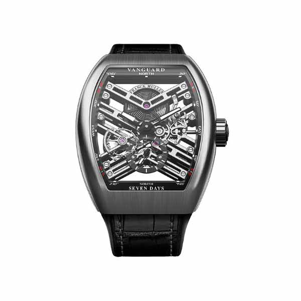 FRANCK MULLER VANGUARD 45MM STAINLESS STEEL MEN'S WATCH