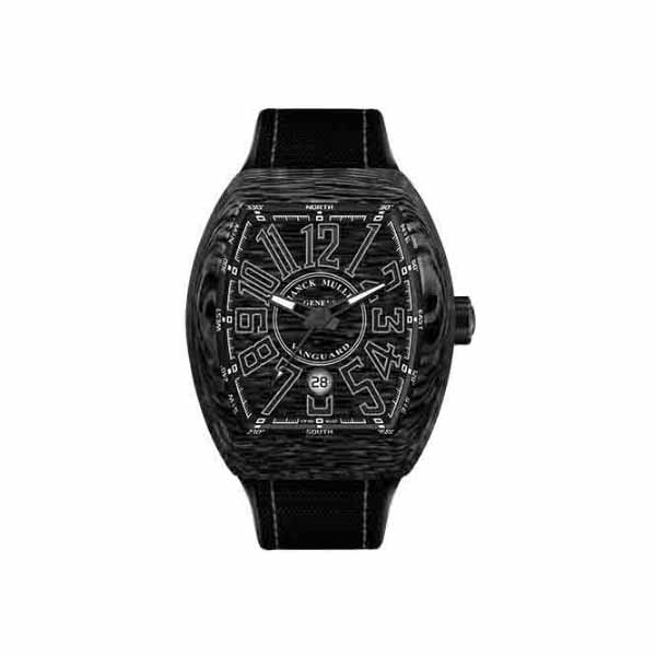 FRANCK MULLER VANGUARD 45MM BLACK CARBON FIBER MEN'S WATCH