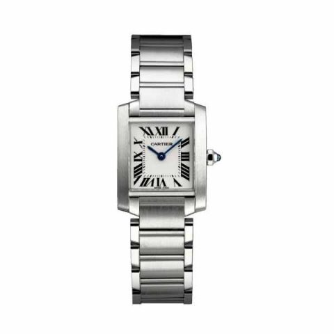 CARTIER TANK FRANCAISE 25MM X 20MM STAINLESS STEEL LADIES WATCH