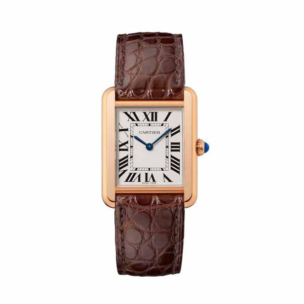 CARTIER TANK SOLO 31MM X 24.4MM 18KT ROSE GOLD LADIES WATCH