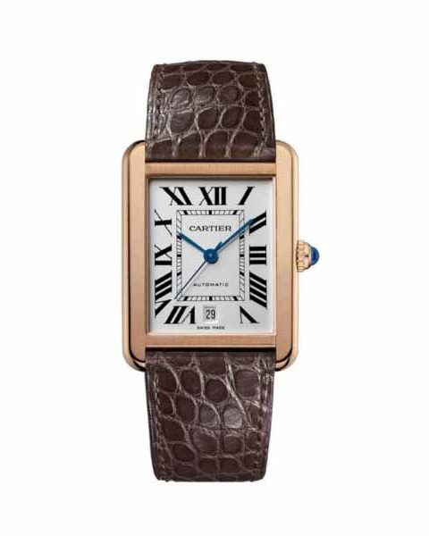 Cartier Tank Solo Extra Large Model 18kt Rose Gold Men's Watch