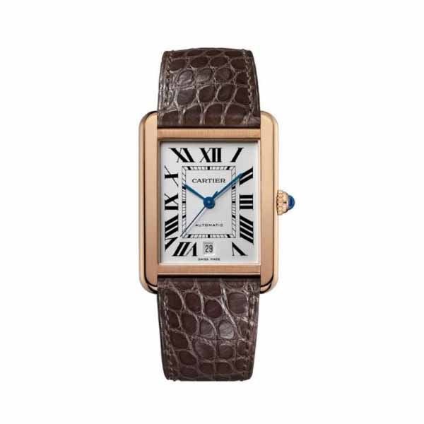 CARTIER TANK SOLO EXTRA LARGE MODEL 31MM X 40.8MM 18KT ROSE GOLD MEN'S WATCH