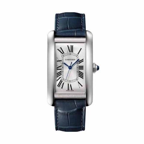 CARTIER TANK AMERICAINE LARGE 26.6MM X 45.1MM STAINLESS STEEL MEN'S WATCH